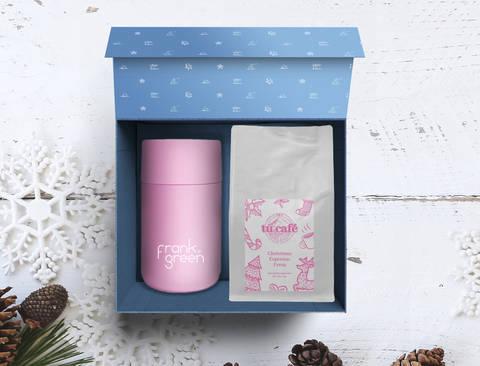 Zestaw świąteczny z kawą i kubkiem termicznym